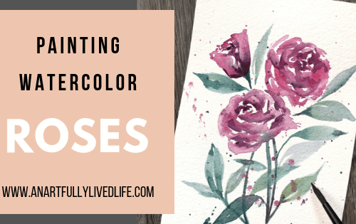 Painting watercolor roses featured image